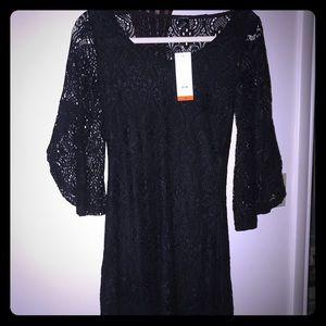 Size medium black lace dress